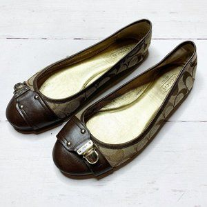 Coach Brown Logo Flats 7